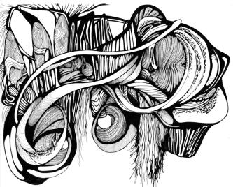 Crystal Wagner - desenho (estudo para instalação)