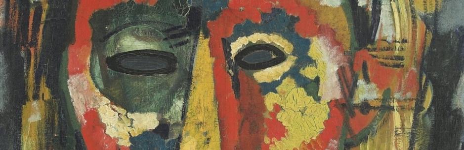 A mascara de olho verde.Cabeça c. 1915-1916 Óleo sobre tela. Colecção particular