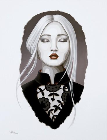 Midnight Sun / oil on paper/ Duma