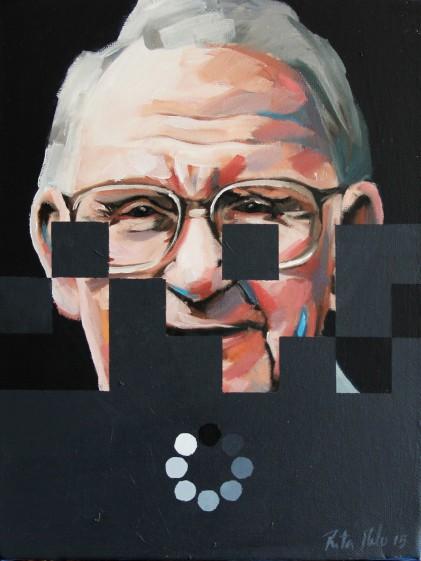Imagem em ritamelo.pt | Time Line XVIII | óleo sobre tela | 20cmX15cm| 2015