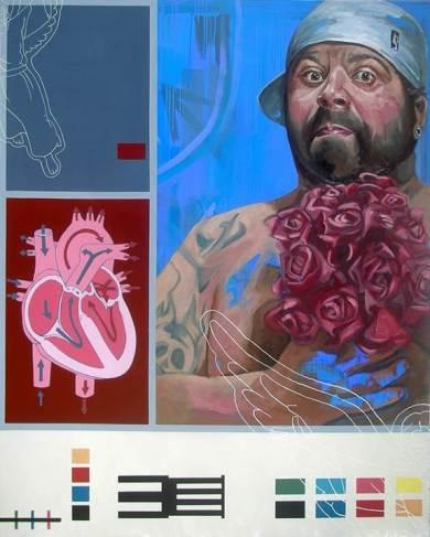 Imagem em shairart.com | Package Love, 2009 | Óleo sobre tela | 160 cm x 200 cm | Rita Melo
