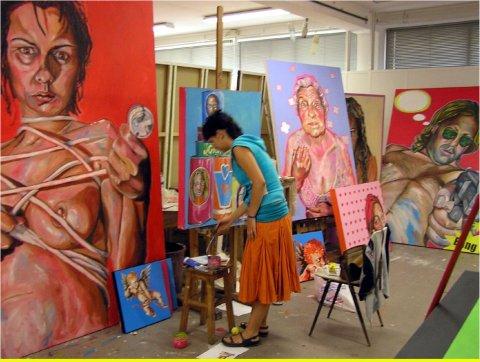 Rita Melo no atelier | OLYMPUS DIGITAL CAMERA | 2011