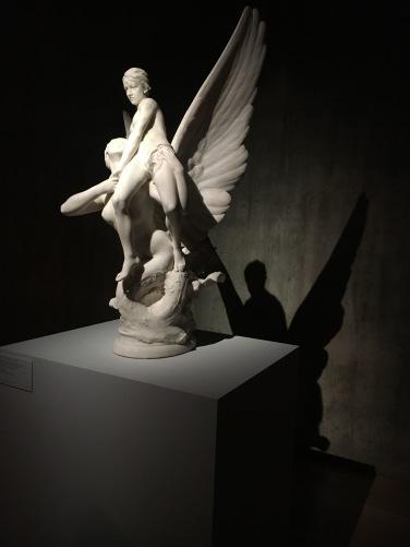 Denys Pierre Puech | Sereia Alada Arrebatando um Adolescente | Paris 1899 | Mármore